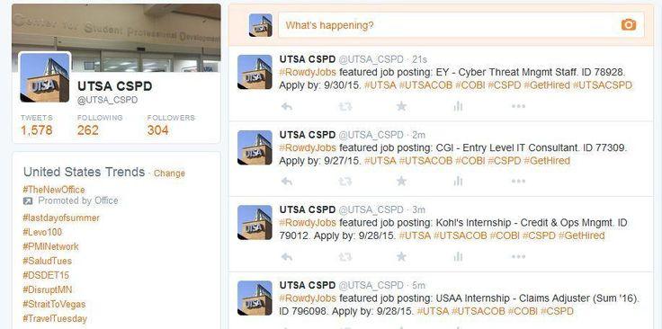 Pin by UTSA CSPD (Center for Student Professional Development) on - utsa resume template