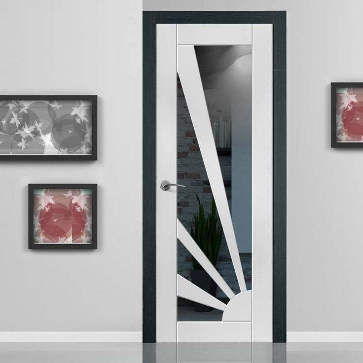 JB KIND Calypso Aurora White Primed Door with Clear Safety Glass - Lifestyle Image