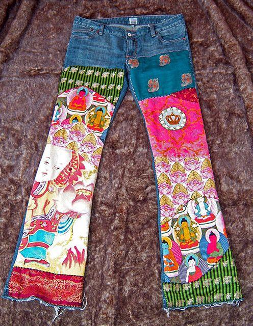 Want! Boho Buddha Jeans by mydeepbluec, via Flickr