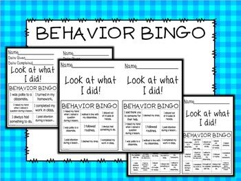 We all have had students who struggle with something. Whether it is raising their hand before speaking, paying attention during a lesson, or being kind to a classmate. We have also all had our struggles trying to motivate some students to do the right thing.This 45 page Editable Behavior Bingo will make that process EASIER for YOU and a TON of FUN for your STUDENTS.You get:4 DIFFERENT cards with 6 boxes4 DIFFERENT cards with 9 boxes4 DIFFERENT cards with 12 boxes4 DIFFERENT cards with 15…