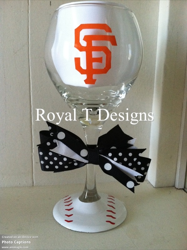 San Francisco Giants Baseball Wine Glass $12