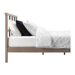 IKEA - РИКЕНЕ, Каркас кровати, 140x200 см, , Массив дерева – прочный натуральный материал.