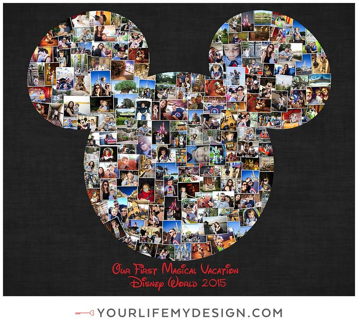 20x24 with 163 photos ❤ CollageDesign by http://yourlifemydesign.com/ #yourlifemydesign #photocollage #mickeymousecollage #disneycollage #gift #giftideas #anniversary #homedecor #home #photography #collage #decor #decoration #walldecor