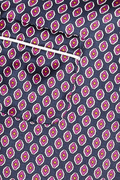 Olivia von Halle - Vita Zayna Printed Silk-satin Pajama Set - Grape -