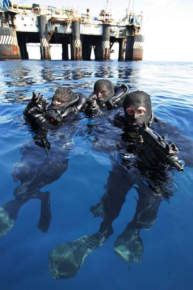 Brazilian Navy Special Forces (GRUMEC) combat divers.