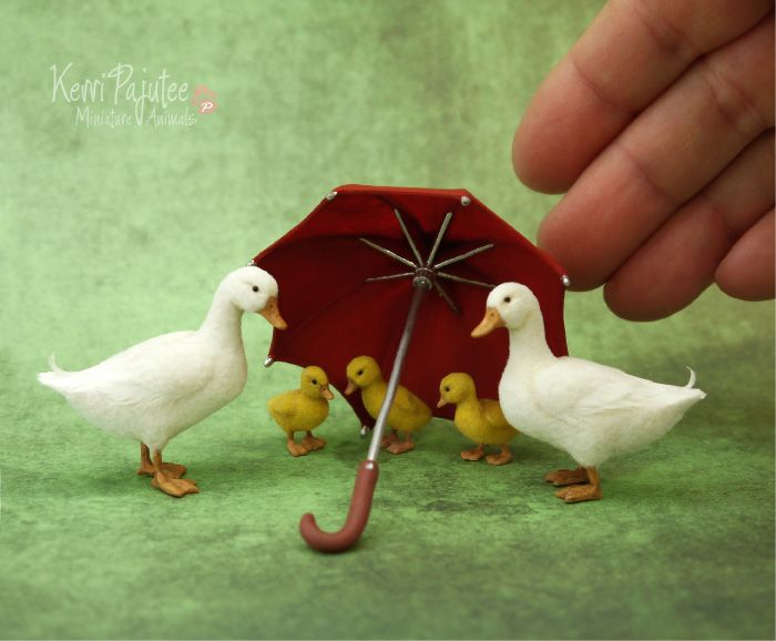 Lovely miniature sculptures by Kerri PajuteeYou must check out her website, as there is just so very much more to see.