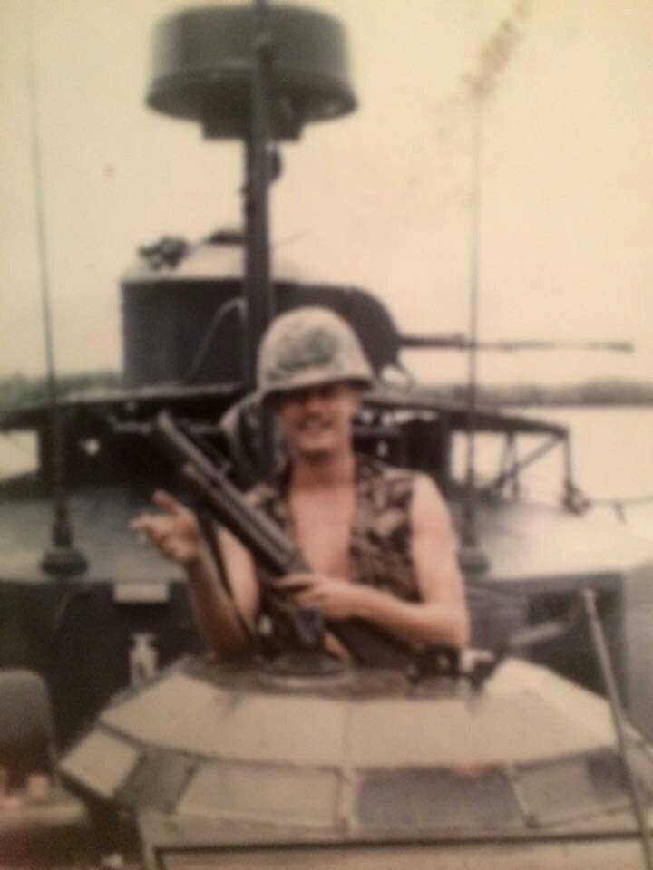 My dad with his trusty M79 grenade launcher Vietnam 1969.