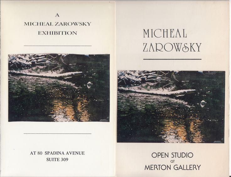 zarowsky: new work from eramosa river at merton gallery toronto 1988