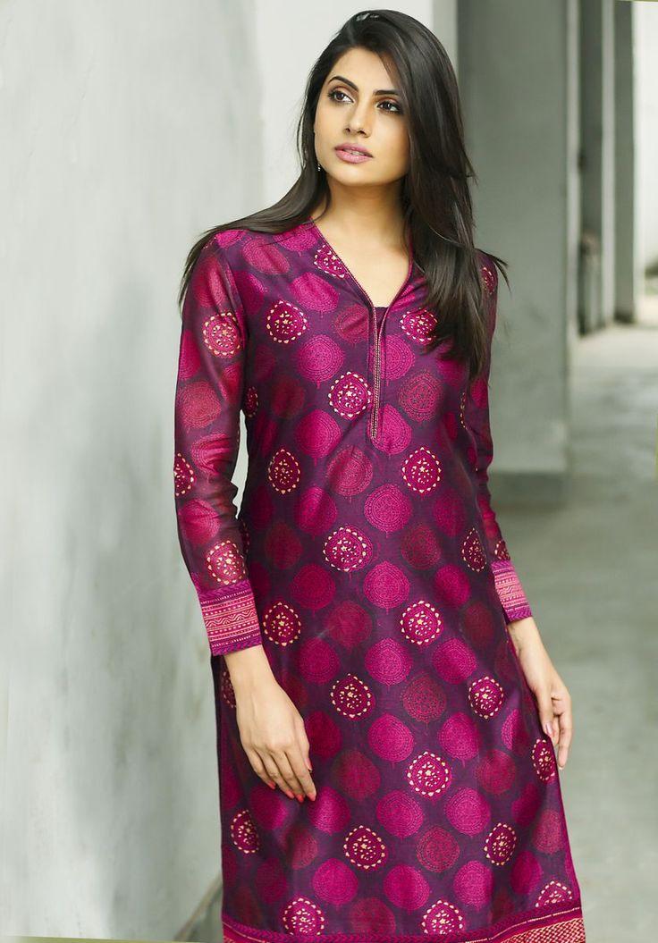 #prints #occasion #festive #pink #purple #dressy #kurta #Fabindia