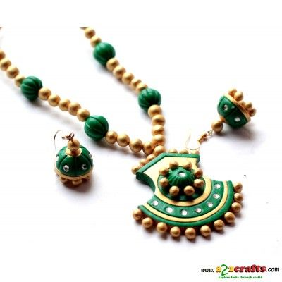 Exclusive Terracotta Jewelry - Terracotta - Rs. 485 - Hand Made Crafts - Buy & Sell Indian Handmade Crafts and Handmade terracotta, dokra Jewelry and Gifts