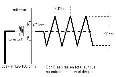 ANTENA HELICOIDAL PARA VHF
