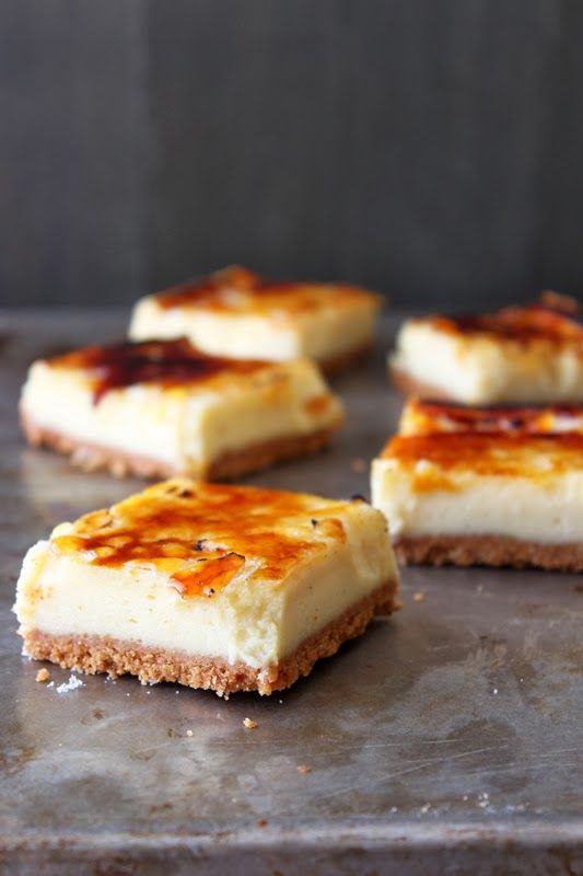 Creme Brulee Cheesecake Bars #recipe #dessert