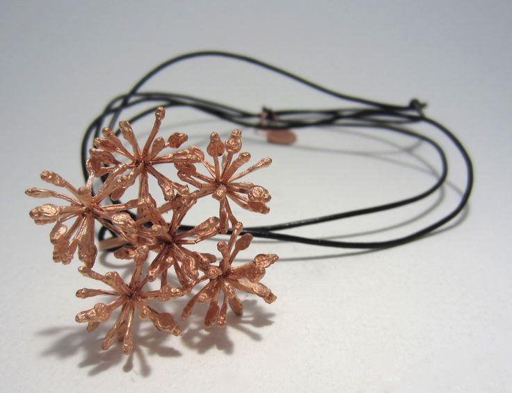 Anna Balasoglou - Puahou Pendent - bronze with copper plate