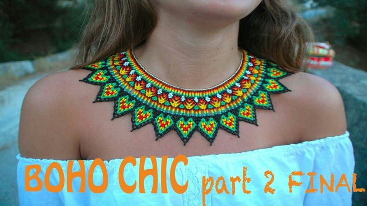 PART 2 FINAL of the TUTORIAL for the BOHO CHIC STYLE necklace! THUMBS UP!!!