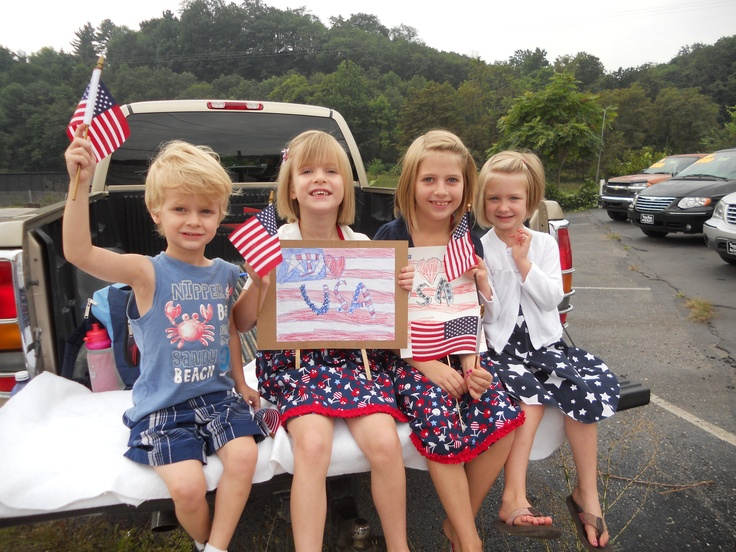 The wee ones showing their pride at the 2012  --- 911 Memorial ride.