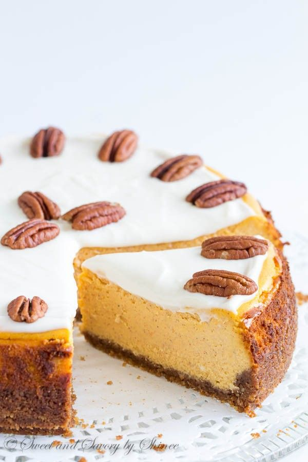 Scrumptiously creamy and rich, this carrot cheesecake is baked on nutty crust and frosted with tangy sweet frosting. You need this cheesecake in your life.