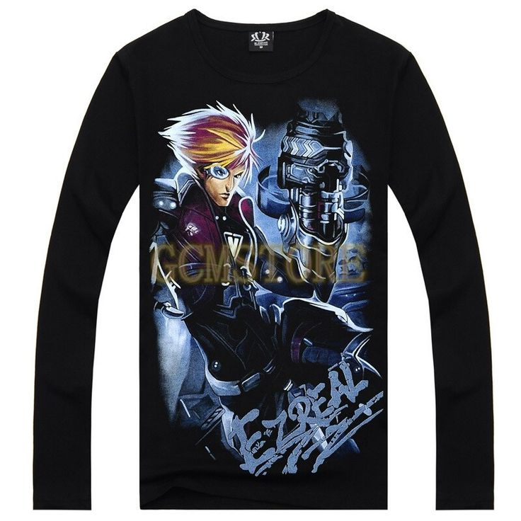 2015 Black Men's Long Sleeve LOL Ezreal 3D Print Wholesale Customised T Shirt #men #women #young #boys #girls #guy #lol #hoodies #sweatshirts #dress #tshirt #pants #vest #love #fashion #style #stylish #shopping #cool #cute #amazing #fun #funny #beautiful #beauty #follow #followme #shoutout #likes #comment