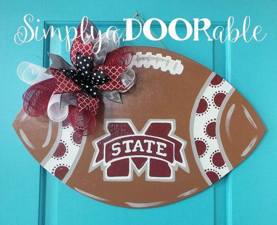 Mississippi+State+Football+Wood+Door+Hanger+by+SimplyaDOORableNC