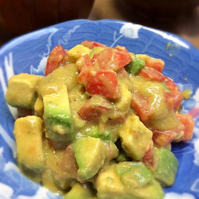 思いつきで作ったけど、とってもうまい - 21件のもぐもぐ - アボカドトマトの酢味噌和え by kawasakiseVIz