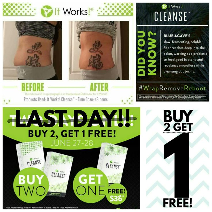 ⚠THESE ARE NOT  RESULTS FROM OUR WRAPS!!⚠ These are results from our CLEANSE!! It's an easy 2 ✌ day process that will jumpstart your body to start reacting to all of the hard work you've done do get healthier and/or lose weight!  I have customers & team members who've lost 2-10 pounds in 48 hours!!  (I lost 5 lbs   with my first one! I'm doing my 2nd one today weeeee!)   TODAY IS THE LAST DAY to get your FREE Cleanse with the #B2G1 deal!! Tomorrow you'll wish you did.INBOX ME!!