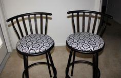 Reupholstering Bar Stools DIY