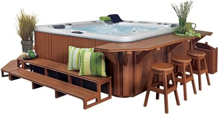 hot tub surround | ... Fireplace & Spa: Hot Tubs ...