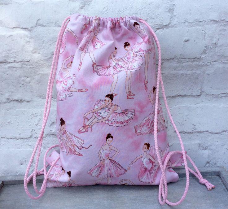 Drawstring Backpack, Backpack, Girls Backpack, School Bag, Ballet bag, Dance…