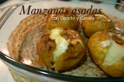 Baked Apples with Cinnamon and Porto Wine