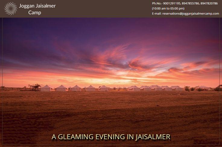A Gleaming evening in JogganJaisalmer Enjoy & Visit http://goo.gl/EDCMUI