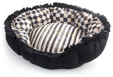 Courtly Check Pet Pouf eclectic pet accessories