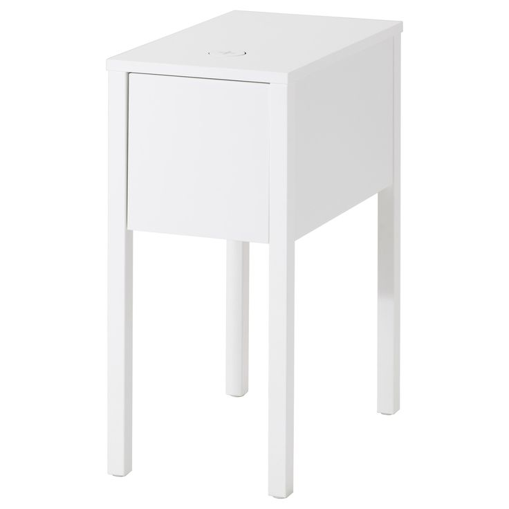 IKEA - NORDLI, Nightstand with wireless charging, , You can easily charge your smartphone wirelessly, just place it on the built-in charger and charging begins.You can charge two devices at the same time since the charger also has a USB port.The cable to the charger can be hidden in the groove along the table leg.Inside the drawer is a removable insert to help you to organize all your small items.