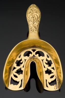 Dental impression tray, France, 1830-1850, bronze