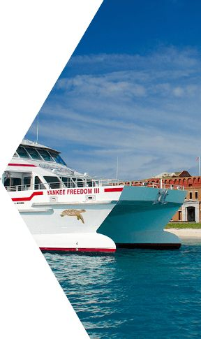 Embark on the day trip of a lifetime aboard Yankee Freedom III, the official Key West Ferry to the Dry Tortugas National Park.