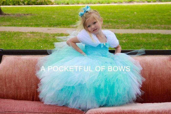 Cinderella Tutu Dress Costume, Disney Princess Tutu  So Beautiful!!! Hundreds & Hundreds yards of fabric! So full and fluffy!!