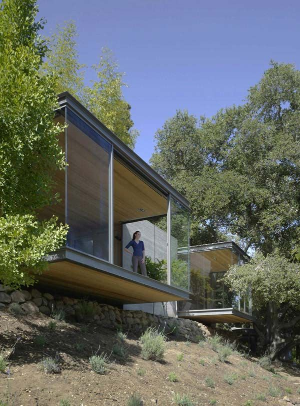 Nature Inspired Tea Houses Cantilevered Over the Valley | Modern House Designs