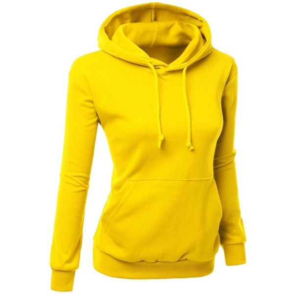 Xpril Women's Colorful and Comfortable Simple design Hoodie Shirt ($23) ❤ liked on Polyvore featuring tops, hoodies, shirt hoodies, hoodie shirt, multi color shirt, yellow hoodie and shirts & tops