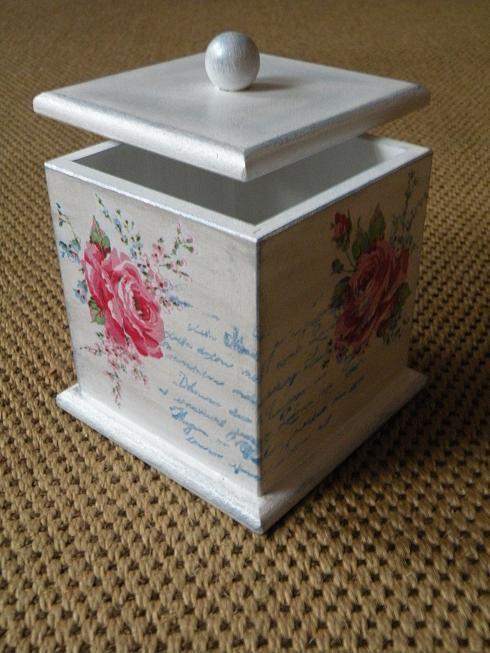 Decoupage box, Craquelê, pinturas