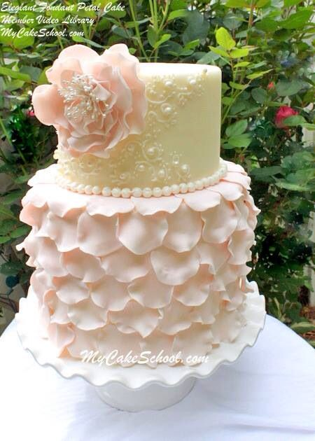 Wedding cake petals pink