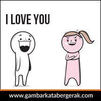 DP BBM Cinta Bergerak i love you