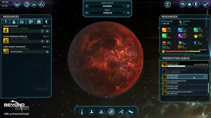 Beyond Dark's online universe is the largest ever created for a strategy game. Home to millions of planets and hosting thousands of players, it is full of surprises waiting to be discovered. So how will you and other players begin to explore this massive, persistent online universe? Beyond Dark's giant in-game universe. Fog of War …