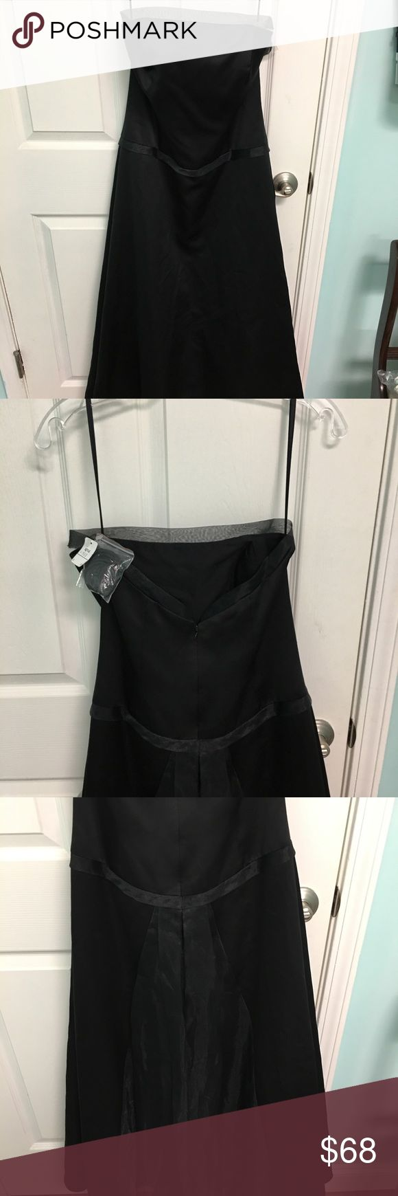 Bari Jay Little Black party dress 9 / 10 Bari Jay  Size 9/10 Brand new with tags  Strapless with optional spaghetti straps included in the package. Tea length Perfect little black dress at a great price! Great for a Christmas party or a New Years.   Bari Jay is a designer that make high end gowns and bridesmaid dresses. bari jay Dresses Midi