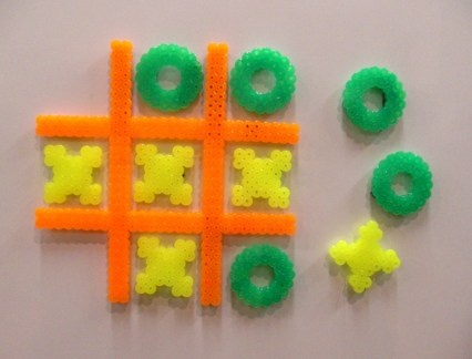 Neon Fridge Tic Tac Toe.