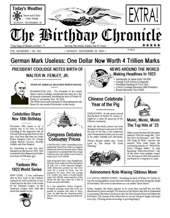 Hey, I found this really awesome Etsy listing at https://www.etsy.com/listing/210996392/birthday-chronicle-newspaper-print-what
