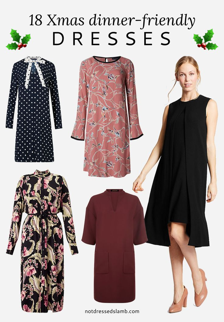 18 Christmas dinner-friendly dresses for women over 40 | Not Dressed As Lamb style blog