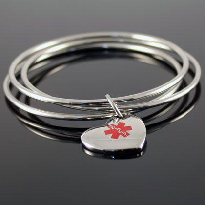 Classic Bangles Medical Bracelet > Medical Bracelets Engraveable