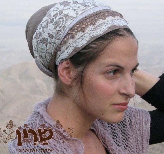 Lots of  lace- Tichel, tichel,Hair Snood, Head Scarf,Head Covering,jewish headcovering,Scarf,Bandana,apron
