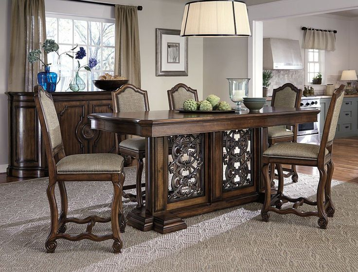Dining Room Montebella Gathering Height Table Kt With How Tall Is A