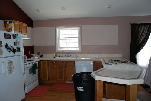 kitchen makeover - before and after photos: Photo