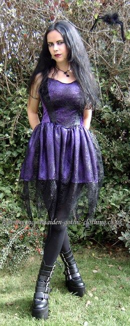 Spiderfairy Mini Dress by Moonmaiden Gothic Clothing UK