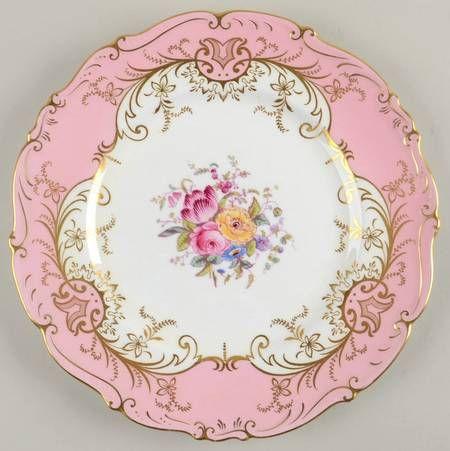 Coalport Sandringham Pink Dinner Plate